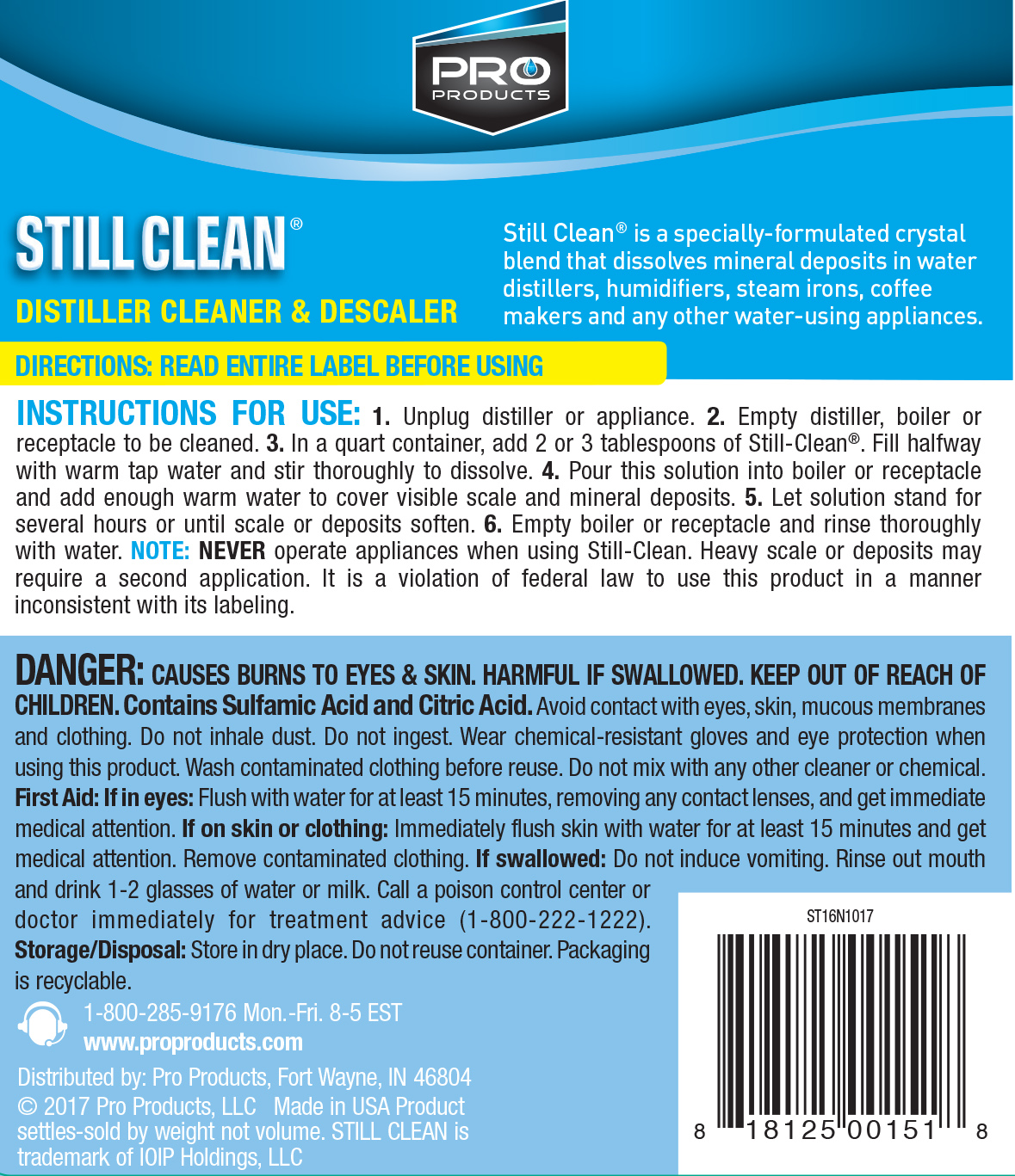 Still-Clean® | Pro Products